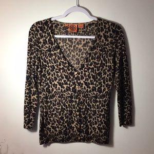 Tori Burch Animal Print Wool Sweater